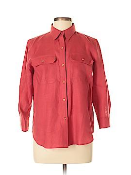 Ralph Lauren 3/4 Sleeve Button-Down Shirt Size L (Petite)