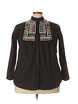 Velzera Long Sleeve Button-Down Shirt Size 1X (Plus)