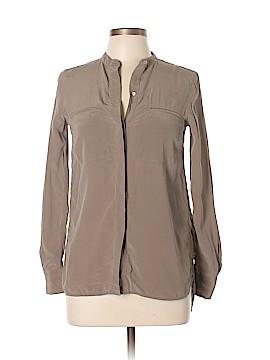 Vince. Long Sleeve Silk Top Size 2