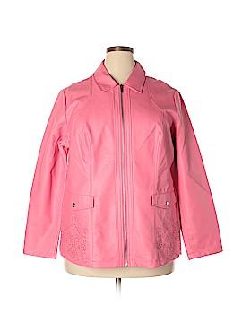 Dennis by Dennis Basso Faux Leather Jacket Size 1X (Plus)