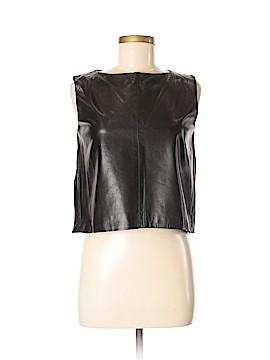 Susan Lazar Leather Top Size 2