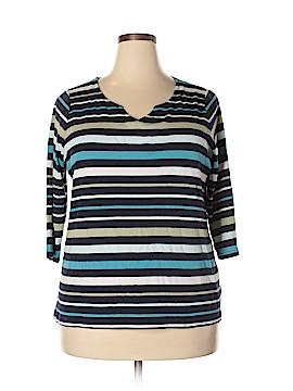 Croft & Barrow 3/4 Sleeve T-Shirt Size 1X (Plus)