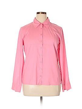 Sigrid Olsen Long Sleeve Button-Down Shirt Size L