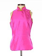 Shanghai Tang Women Sleeveless Silk Top Size 4