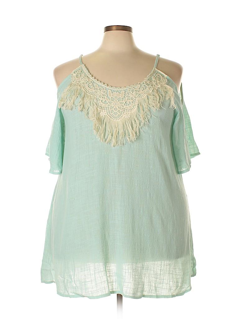 Velzera Women 3/4 Sleeve Blouse Size 3X (Plus)