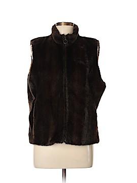Ann Taylor LOFT Faux Fur Vest Size XL (Petite)