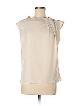 Halston Heritage Short Sleeve Silk Top Size 0