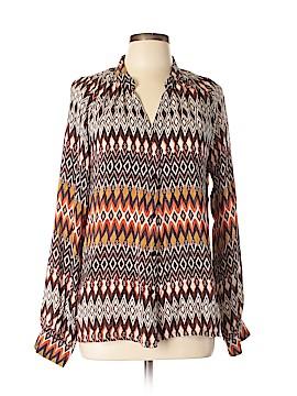 Tolani Long Sleeve Silk Top Size XL