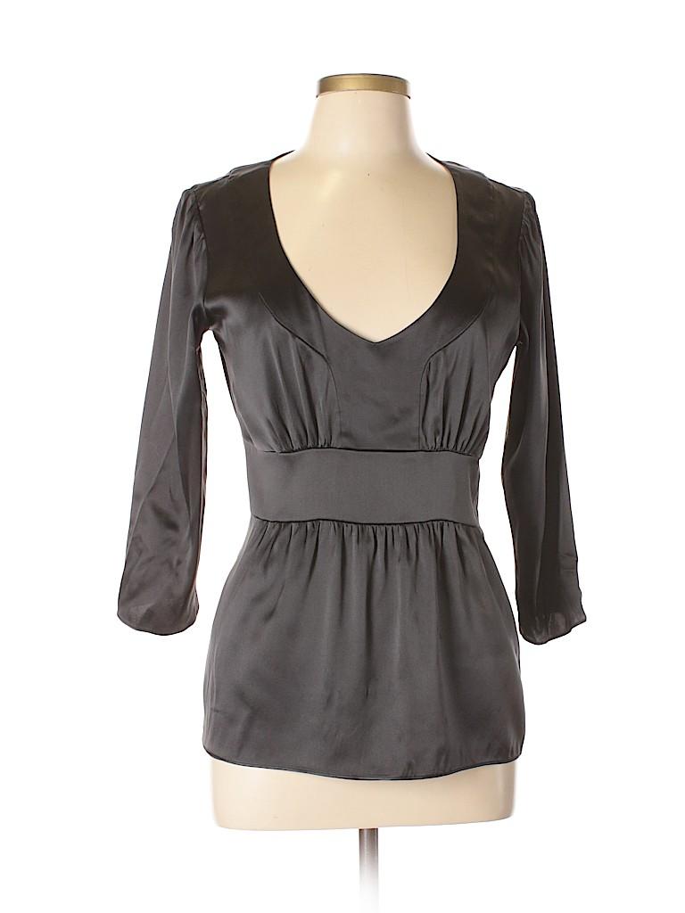 ETRO Women 3/4 Sleeve Silk Top Size 46 (IT)