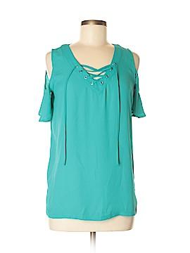 INC International Concepts Short Sleeve Blouse Size M (Petite)