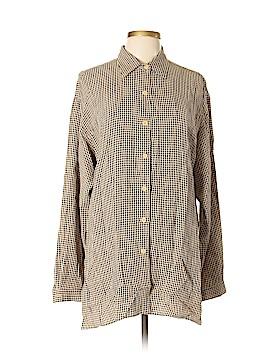 Karen Kane Long Sleeve Button-Down Shirt Size L