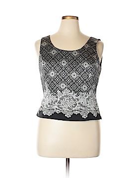 Tahari Sleeveless Silk Top Size 14