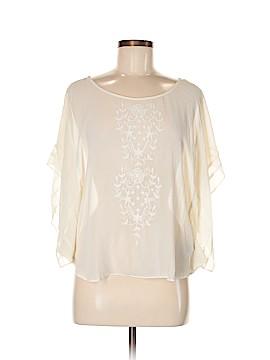 Lie Short Sleeve Silk Top Size 8