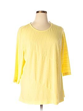 Energe World Wear 3/4 Sleeve Top Size 1X (Plus)
