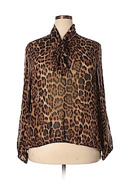 Spiegel Long Sleeve Silk Top Size 20 W (Plus)