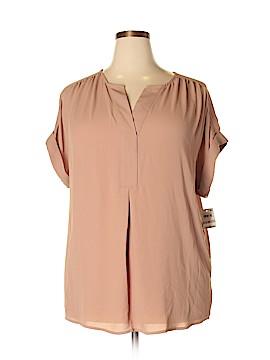 Charter Club Short Sleeve Blouse Size 1X (Plus)