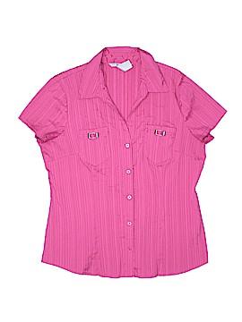 Fred David Short Sleeve Blouse Size L