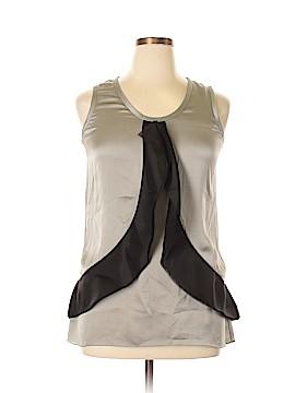 Vera Wang Short Sleeve Silk Top Size 10