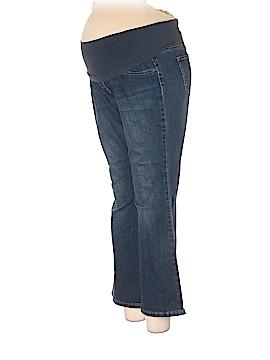 Indigo Blue Jeans Size XL Petite Maternity (Maternity)