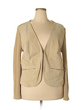 Jessica London Leather Jacket Size 22 - 24 (Plus)