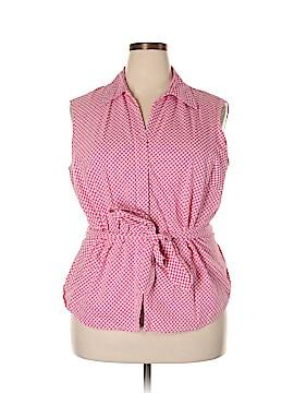 Coldwater Creek Sleeveless Button-Down Shirt Size 2X (Plus)