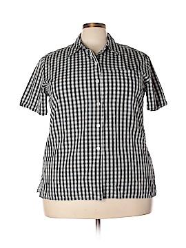 Liz Claiborne Short Sleeve Button-Down Shirt Size 18 (Plus)