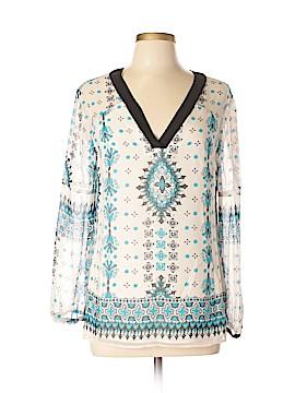 Nanette Lepore Long Sleeve Silk Top Size 6