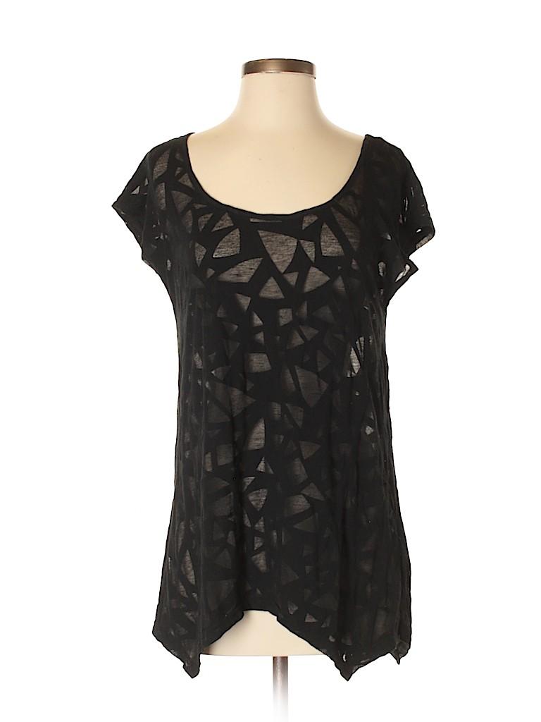 6f495533363 H&M 100% Cotton Tropical Stars Black Short Sleeve Top Size S - 41 ...