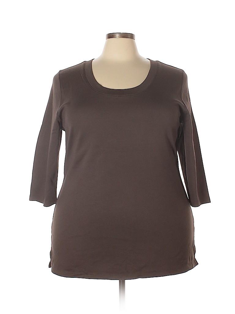 Venezia Women 3/4 Sleeve T-Shirt Size 18 / 20Plus (Plus)