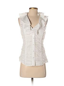 Catherine Malandrino Sleeveless Button-Down Shirt Size 6