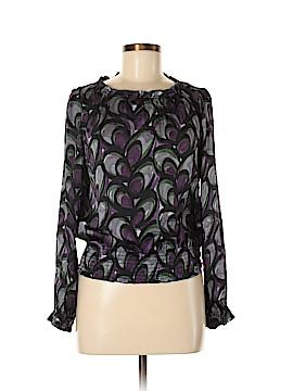 Alfani Long Sleeve Silk Top Size 6 (Petite)