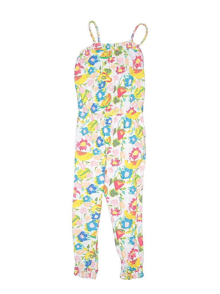 15b1ff45216b Zara 100% Cotton Print Yellow Jumpsuit Size 6 - 7 - 70% off
