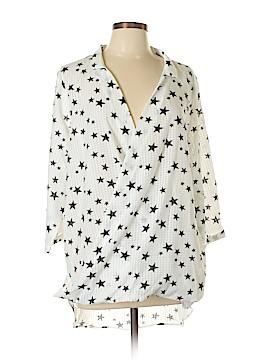 Suzanne Betro Long Sleeve Blouse Size 1X (Plus)