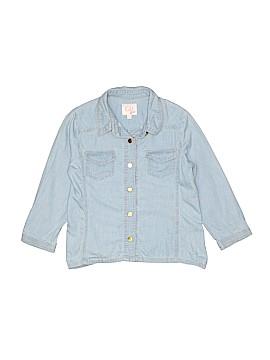 GB Girls Long Sleeve Button-Down Shirt Size L (Kids)