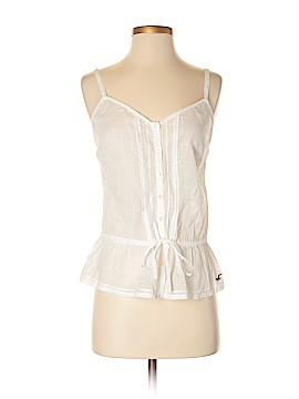 Hollister Sleeveless Button-Down Shirt Size M