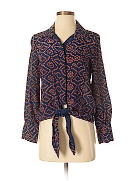 Greylin Long Sleeve Silk Top Size XS