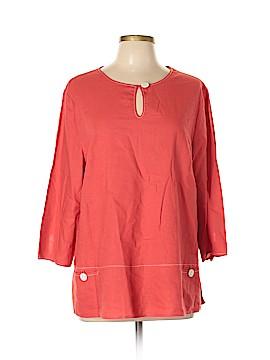 Norm Thompson 3/4 Sleeve Blouse Size L