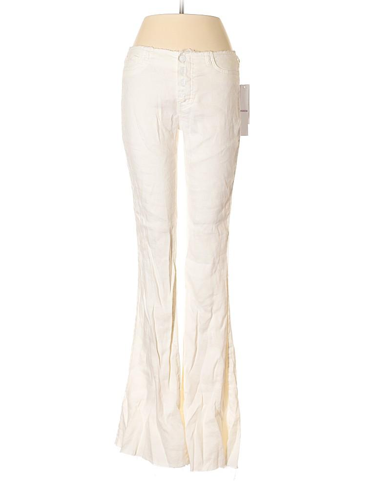 b99323bb18af Hudson Jeans Solid White Linen Pants 27 Waist - 81% off