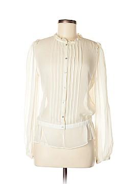 Max Studio Long Sleeve Silk Top Size M