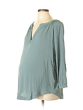 Ann Taylor LOFT Maternity 3/4 Sleeve Top Size L (Maternity)