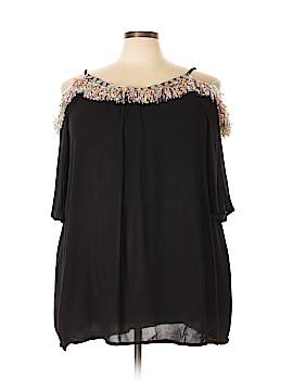 Velzera Short Sleeve Blouse Size 3X (Plus)