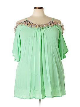 Velzera Short Sleeve Blouse Size 1X (Plus)