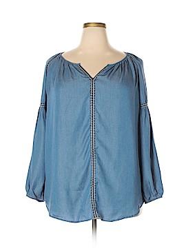 Molly & Isadora 3/4 Sleeve Blouse Size 4X (Plus)