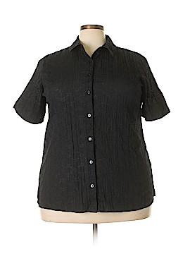 D&Co. Short Sleeve Blouse Size 1X (Plus)