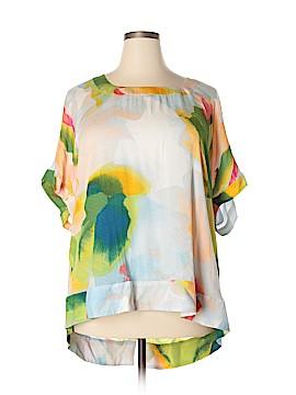 Melissa McCarthy Seven7 Short Sleeve Blouse Size 2X (Plus)