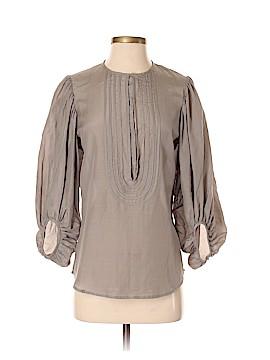 Diane von Furstenberg 3/4 Sleeve Button-Down Shirt Size 4
