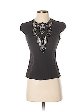 Nanette Lepore Short Sleeve Silk Top Size 0