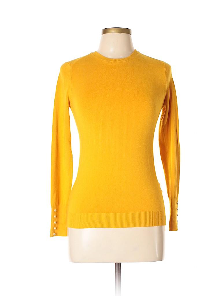1cc0f52a Zara Solid Dark Yellow Pullover Sweater Size L - 52% off | thredUP