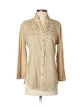 Reba 3/4 Sleeve Button-Down Shirt Size S