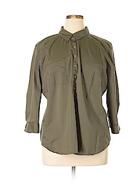 7th Avenue Design Studio New York & Company 3/4 Sleeve Button-Down Shirt Size XXL